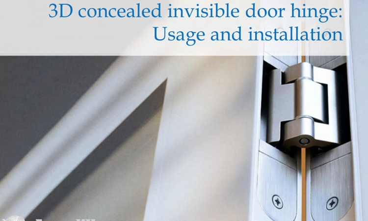 3D concealed invisible door hinge