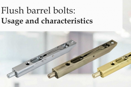 Flush barrel bolts
